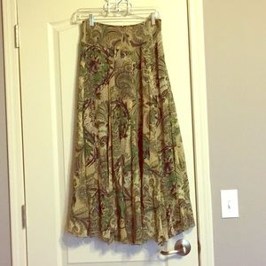 Karen kane silk paisley long skirt